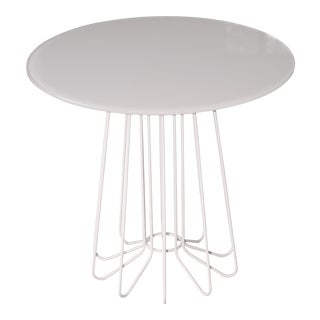 Danish Modern Zanotta Smallwire Small Wire Table For Sale