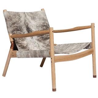 Erickson Aesthetics Slung Brindle Oak Lounge Chair For Sale