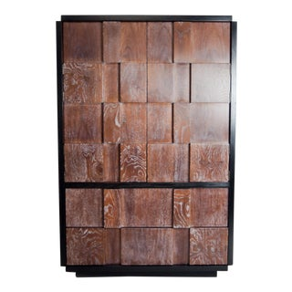Brutalist Armoire by Lane, 1970s For Sale