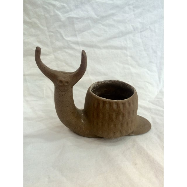 Mid Century Snail Planter - Image 7 of 8