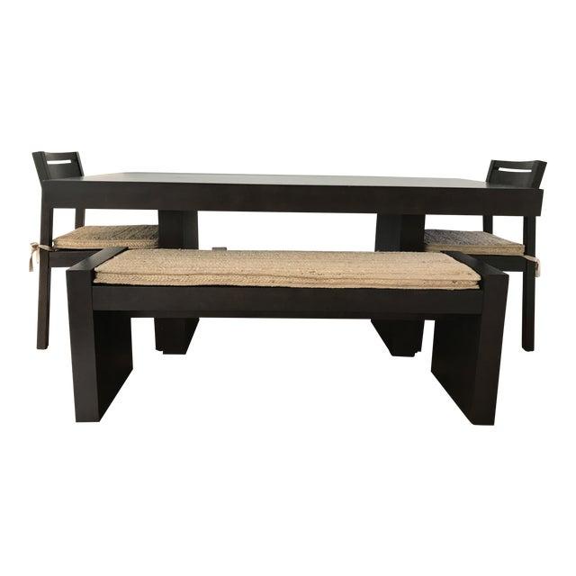 West Elm Modern Terra Dining Table Set For Sale