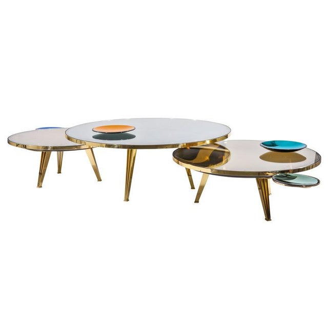 Riflesso Coffee Tables - Set of 3 For Sale - Image 9 of 13