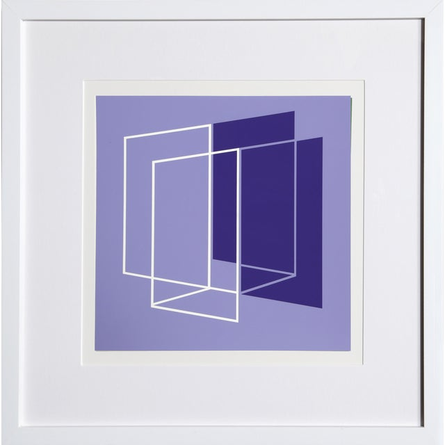 Josef Albers - Portfolio 1, Folder 26, Image 1 Framed Silkscreen For Sale