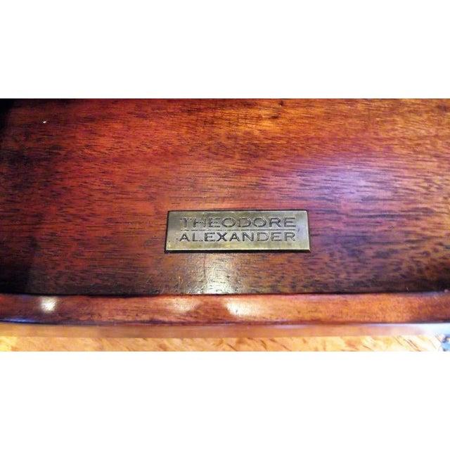 Theodore Alexander Mahogany & Leather Desk Organizer For Sale In Philadelphia - Image 6 of 7