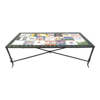 Personalized Ceramic Tile Top Coffee Table For Sale