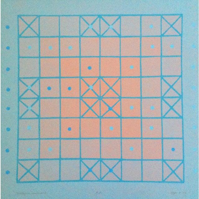 Arts & Crafts 1973 Op-Art Silkscreen Signed Bay Area Artist For Sale - Image 3 of 10