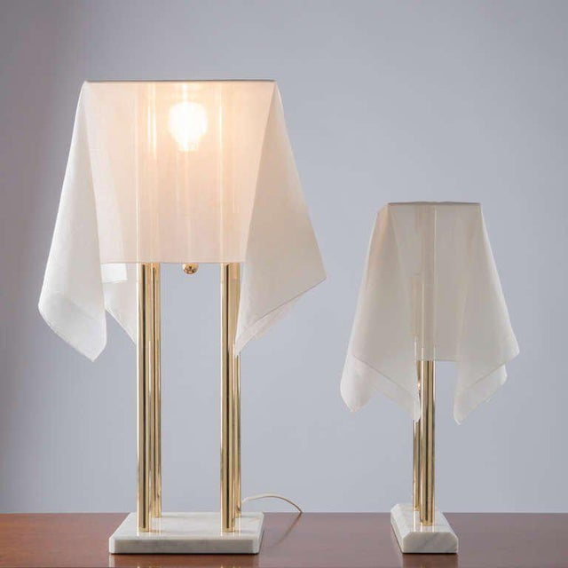 """Gold """"Nefer"""" Table Lamp by Kazuide Takahama for Sirrah For Sale - Image 8 of 10"""
