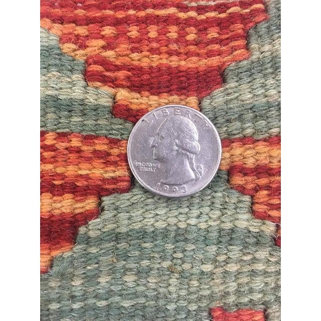 """Hand Knotted Traditional Design Uzbek Wool Kilim. 4'11"""" X 6'5"""" For Sale In Los Angeles - Image 6 of 7"""