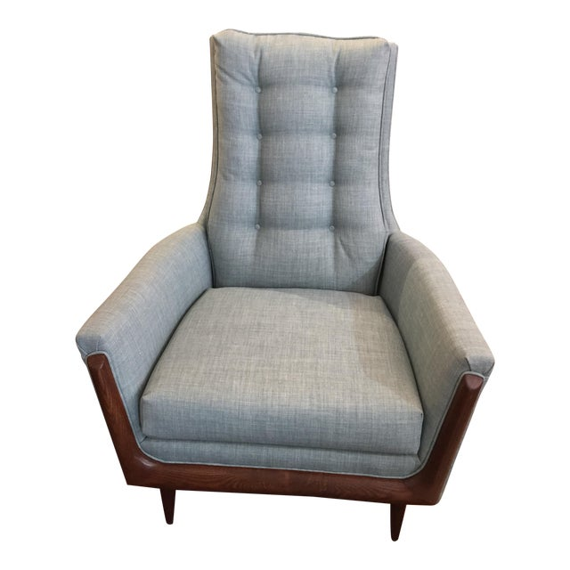 Restored Adrian Pearsall High Back Chair - Image 1 of 4