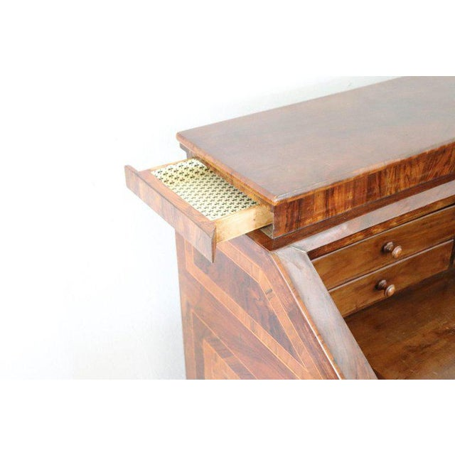 18th Century Italian Louis XVI Inlay Wood Chest of Drawers With Secretaire For Sale - Image 9 of 13
