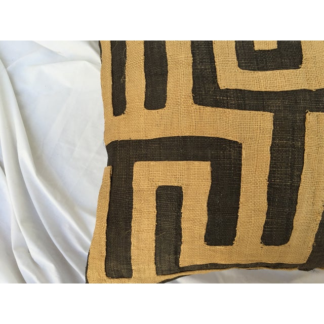 Vintage African Kuba Maze Pillows - A Pair - Image 8 of 8