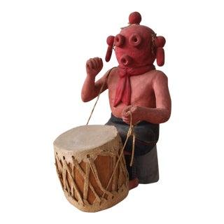 1972 Vintage Hopi Kachina Carved Wood Figure For Sale
