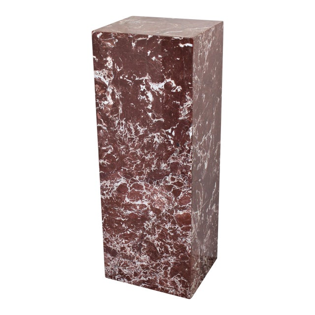 Rouge Marble Pedestal For Sale
