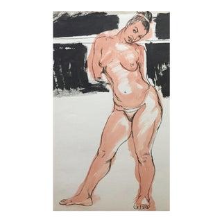 1940-1950's Painting of Model Flo Allen