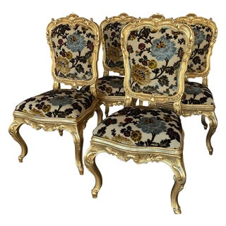 Florentane Guilt Chairs- Set of 4 For Sale
