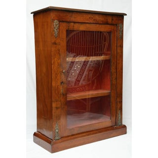 Antique Walnut Display or Music Cabinet Preview