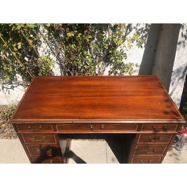 1940s Sligh Lowry 1940 S Antique Executive Desk For Image 5