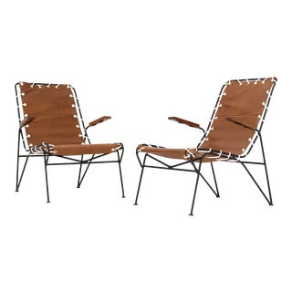 Pair of Sling Lounge Chairs by Pipsan Saarinen Swanson For Sale