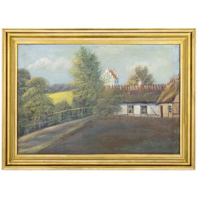 Swedish Landscape Oil on Canvas, C. 1900 For Sale - Image 10 of 10