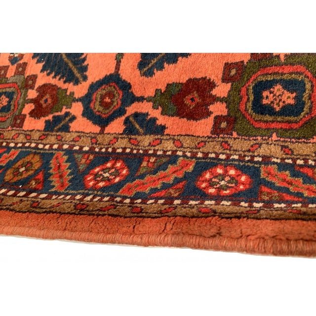 Pasargad Rust Persian Hand Knotted Lilihan Runner For Sale In Washington DC - Image 6 of 7