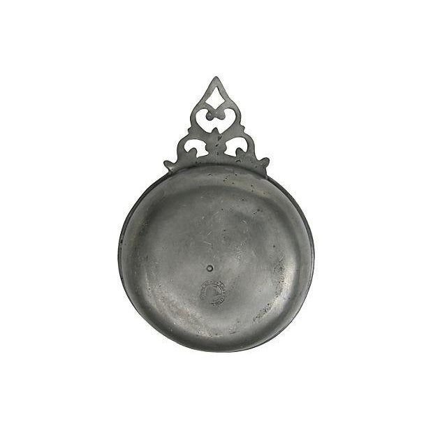 Antique French Pewter Porringer For Sale - Image 4 of 5