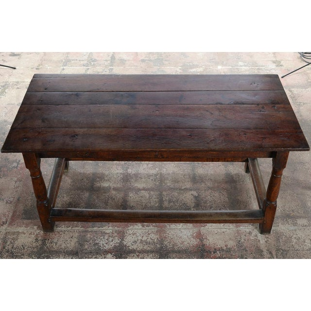 Wood 18th C. Antique English Farmhouse Table For Sale - Image 7 of 8