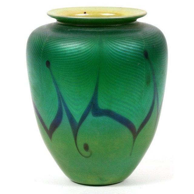 Richard Satava Green Art Glass Vase, C. 1979 - Image 3 of 9