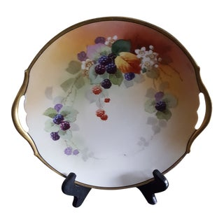 Early 20th Century Antique Hand-Painted Limoges Plate For Sale