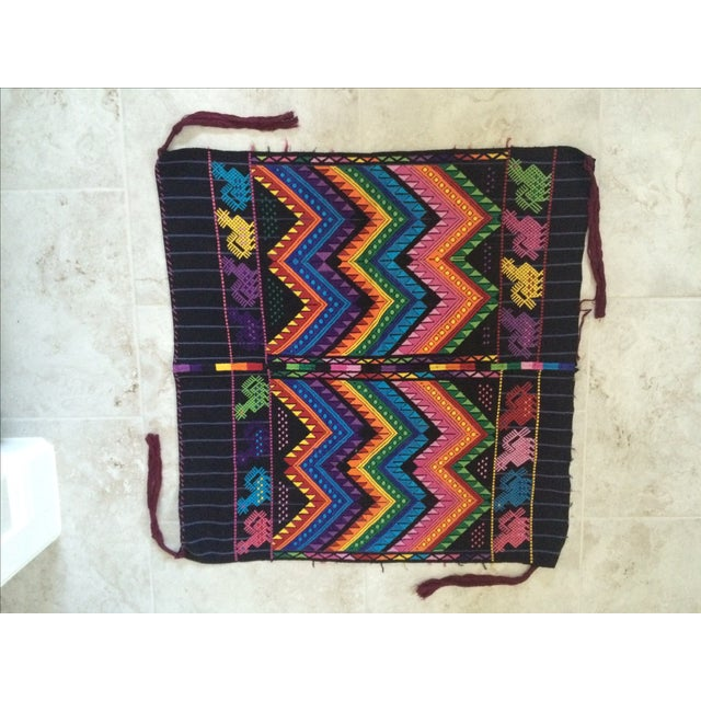Amazingly vibrant and intricate textile that can be used as is or see it up to be a beautifully tasseled lumbar pillow. In...