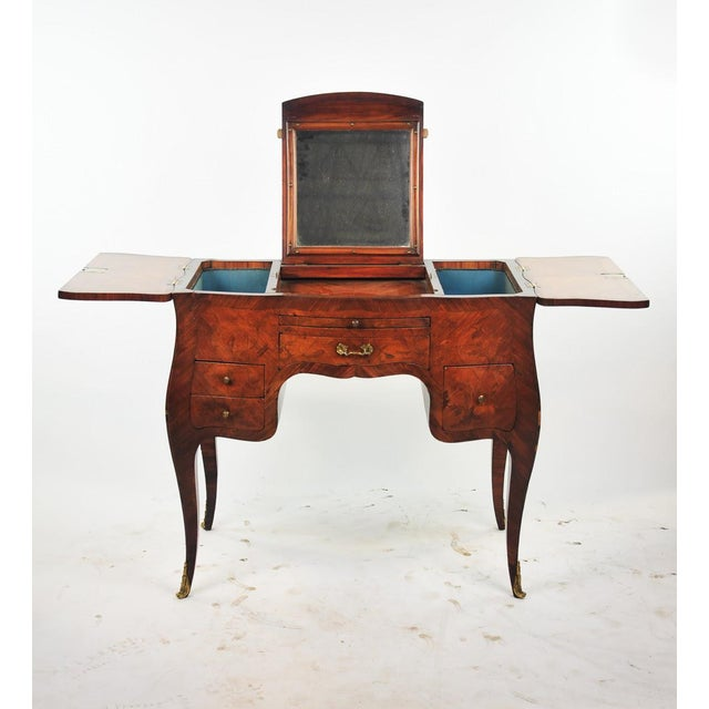 18th Century Louis XVI Marquetry Inlaid Vanity Stand For Sale - Image 4 of 11