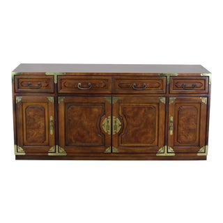 Mid-Century Chinoiserie Console, Bernhard Cabinet, Asian Style Console For Sale