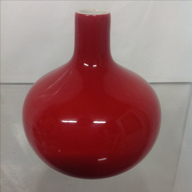 Antique Asian Red Glazed Porcelain Vase - Image 2 of 5