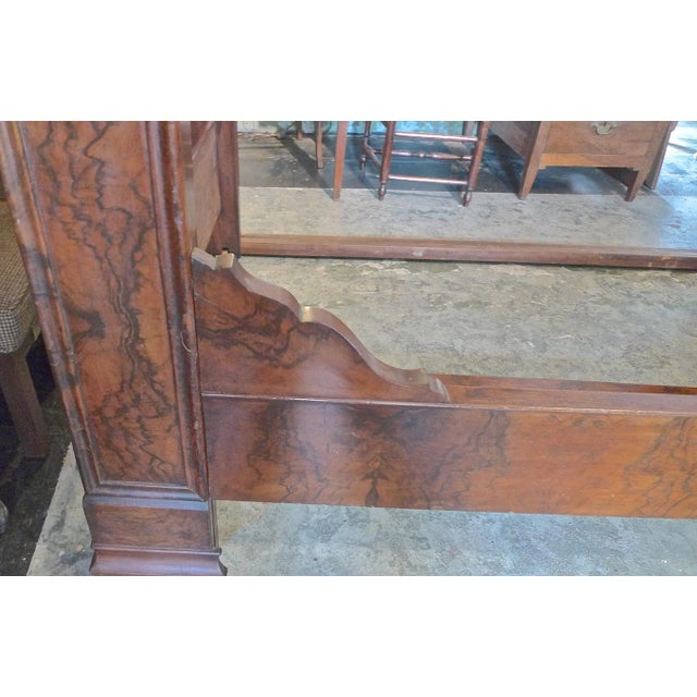 19th Century 19th Century Country Louis Philippe Burled Walnut Bedframe For Sale - Image 5 of 10