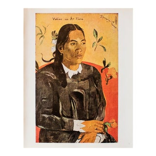 "1940s Paul Gauguin ""Vahine No Te Tiare"" Original Swiss Lithograph For Sale"