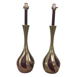 Laurel Mid-Century Modern Brass Lamps For Sale