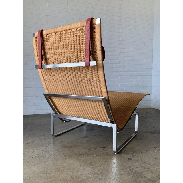 Poul Kjærholm Pk 24 Chaise Lounge With Wicker Seat for Fritz Hansen For Sale - Image 11 of 12