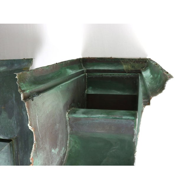 Antique Green Copper Architectural Brackets - a Pair For Sale - Image 10 of 10