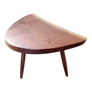 1990s Studio Made Tripod Slab End Table For Sale