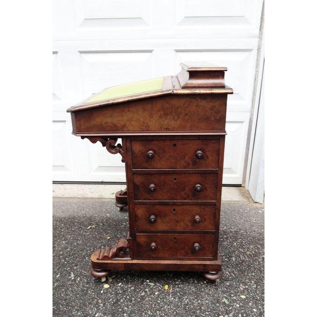 Traditional English Walnut Davenport Desk For Sale - Image 3 of 9