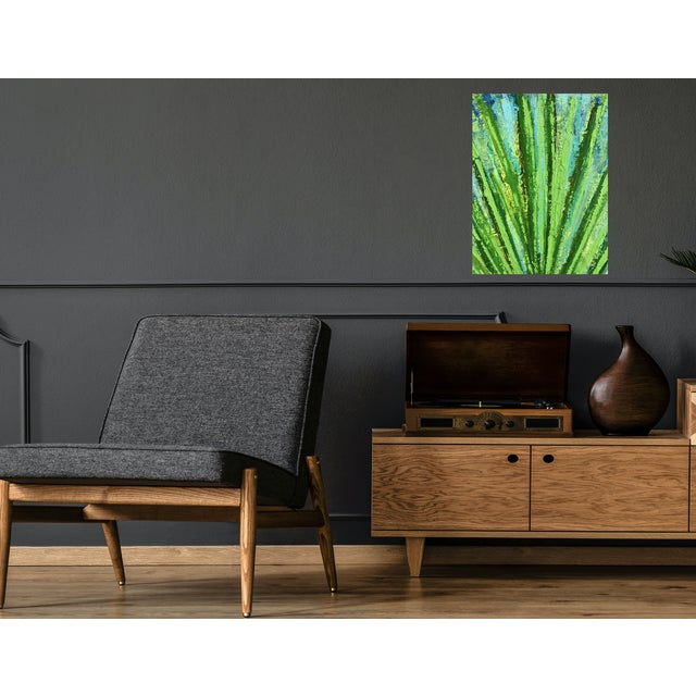 Affordable work from my studio Modern textured SucculentI painting. Bold composition. Add a dramatic colorful masterpiece...