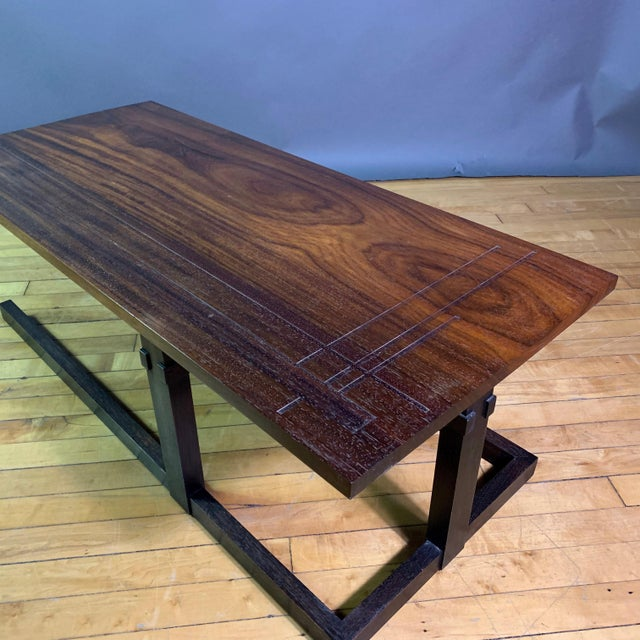 Brown Thomas Swift Studio Teak and Lacquered Coffee Table, Usa 1980s For Sale - Image 8 of 10