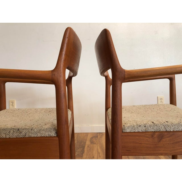 Wood Mid-Century Norgaard Teak Arm Chairs, Made in Denmark, a Pair For Sale - Image 7 of 13