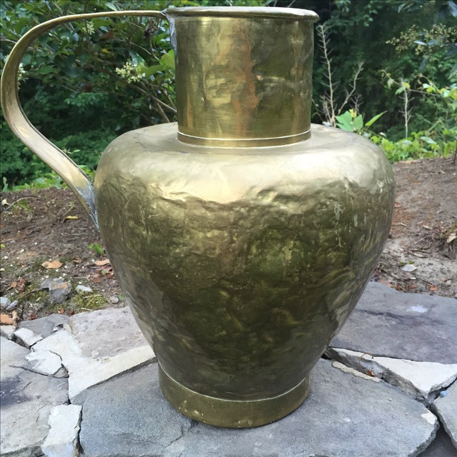 Antique Copper & Brass Hammered Water Jug - Image 3 of 11