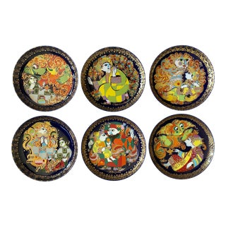 "Bjorn Wiinblad ""Aladin Und Die Wunderlampe"" Plates - Set of 6 For Sale"