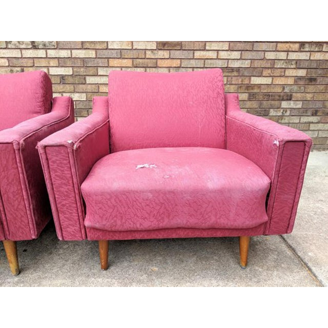 Red 1960s Mid Century Modern Lawrence Peabody Style Lounge Chairs - a Pair For Sale - Image 8 of 10