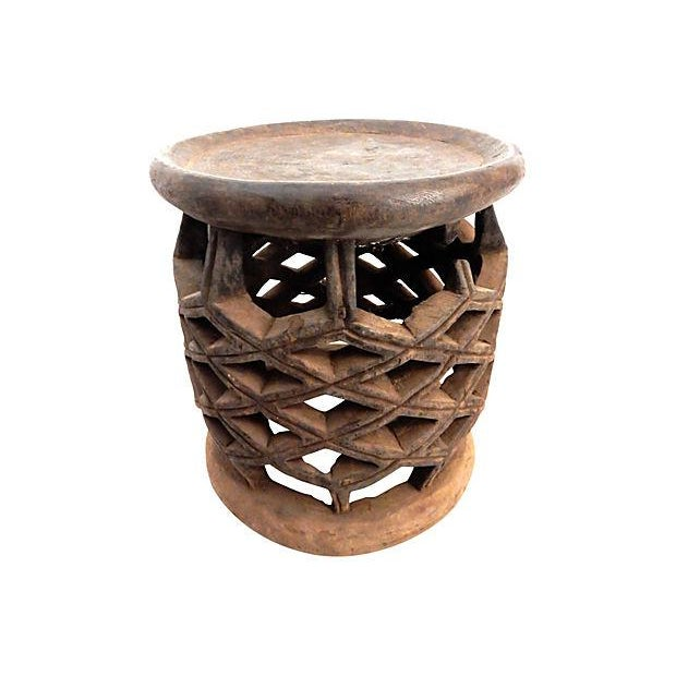 African Diamond Bamelike Stool - Image 4 of 7