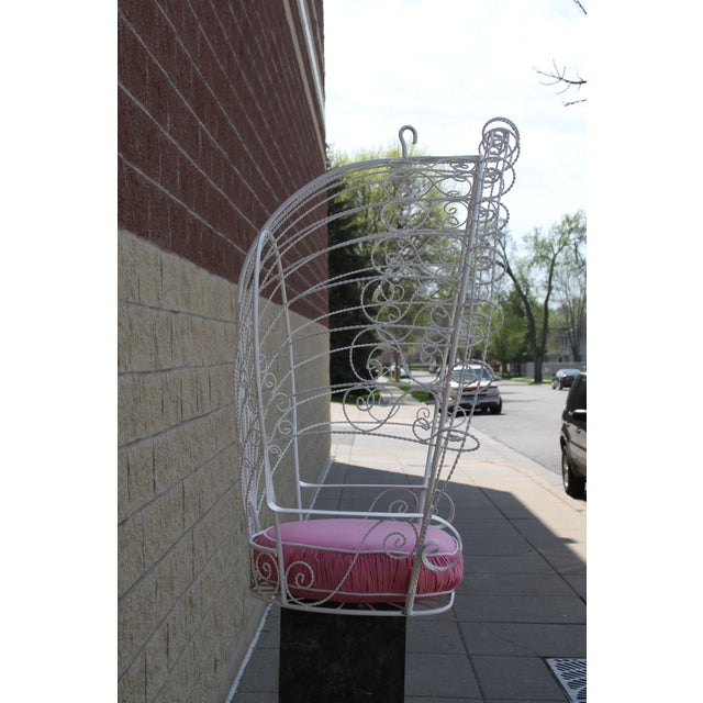 Vintage Metal Hanging Peacock Chair - Image 4 of 10