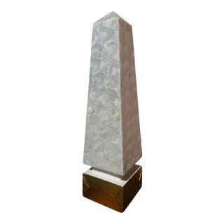 Vintage Capiz Shell Obelisk For Sale