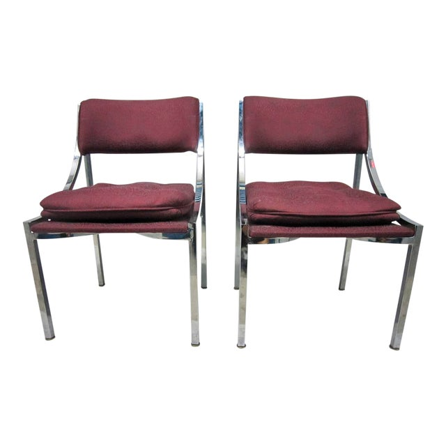 Milo Baughman Dining Chairs - A Pair For Sale