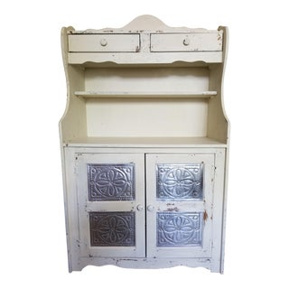 Shabby Chic Farm Hutch/Pie Safe For Sale